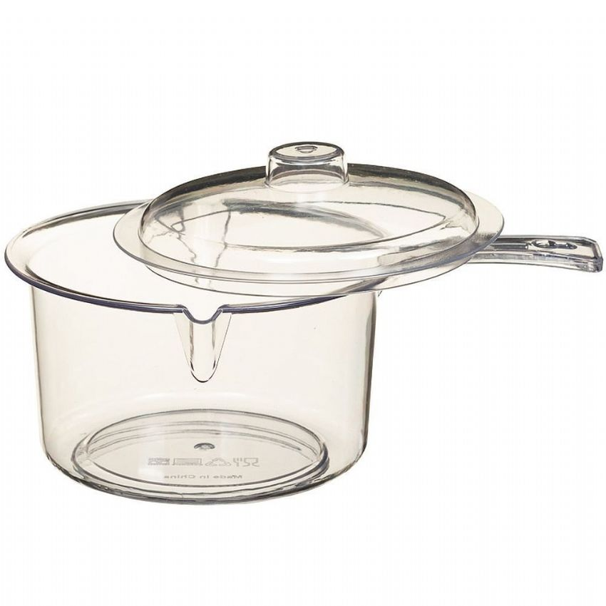 Clear Microwave Saucepan with Lid 600ml